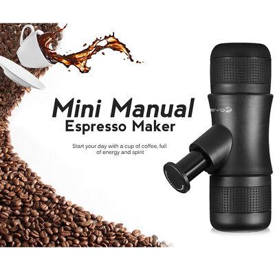 Mini Manuelle Espressomaschine Coffee Maker seite druck ragbare Espresso Schwarz