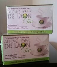 TE DE ALCACHOFA DE LAON-ALCACHOFA DE LAON TEA-Antiox.TeVerde-Rojo-Blanco 2 CAJAS