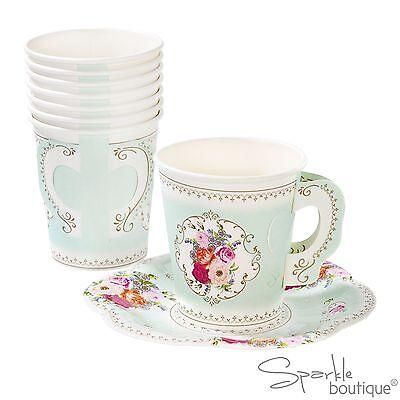 Vintage//Shabby Chic Tazones De Papel-Tea Party-Completo Truly Scrumptious Gama en la tienda!