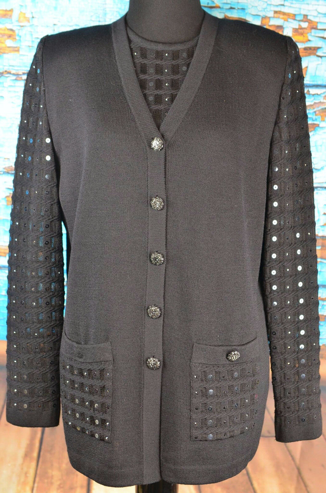 St. John Evening 2 Piece Outfit Women's Size 6 Career Wool Blend NWT  815 Knit