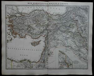 Ottoman-Empire-Anatolia-Holy-Land-Armenia-Cyprus-Turkey-1862-Stieler-map