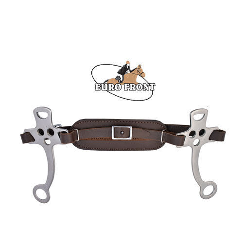HACKAMORE BITLESS BIT EQUESTRIAN BROWN PADDED LEATHER One Size