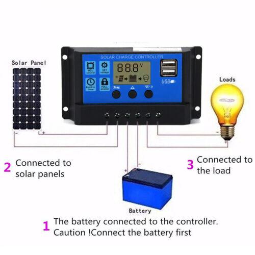 USB 12-24V 30A PWM Solar Laderegler Ladegerät LCD Solar Controller Praktisch .