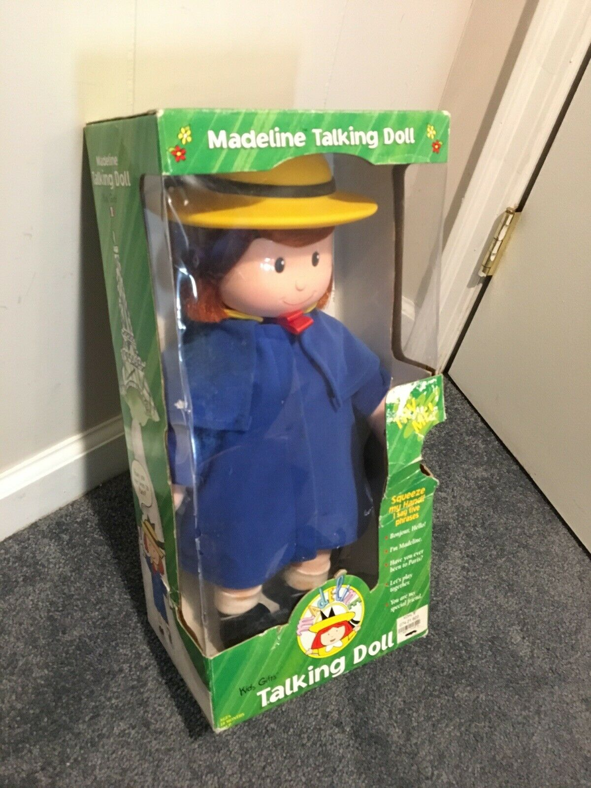Vintage MadelineTalking Doll 16  1998 Unopened Grün Box Kids Gifts Working