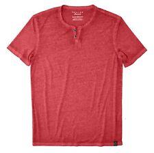 American Navy Lucky Brand Mens Venice Burnout Notch Ringer Long Sleeve Shirt XX-Large