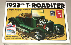 AMT-1923-Ford-Model-T-Roadster-Street-Rod-or-Stock-1-25-scale-model-kit-new-1130