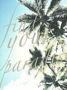 Australia Surf Wave Beach Palm Tree Art Tropical Find Your Paradise