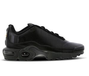 Dettagli su Nike Air Max più TN se Bambini UK Misura 5.5 Nero Prezzo £110 Nuovo in