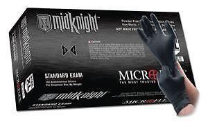 BOX OF 100 BLACK POWDER FREE NITRILE MECHANICS EXAM RUBBER GLOVES EXTRA LARGE XL