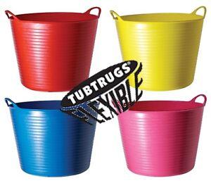BLUE 75L Genuine Flexible TubTrug Flexi Tub Trug Horse Feeding Bucket Red Gorilla Faulks