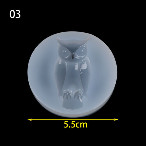 Halloween Resin Molds Bat Silicone Molds Owl Skull Ghost Shape Casting Molds Set