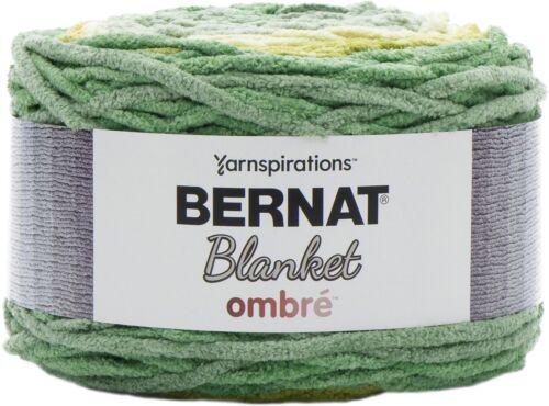 Spinrite Bernat Blanket Ombre Yarn-Green Ombre