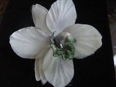 GREGORY LADNER MAUVE /& GREEN ORCHID CORSAGE OVERSIZED FANTASTIC PINK