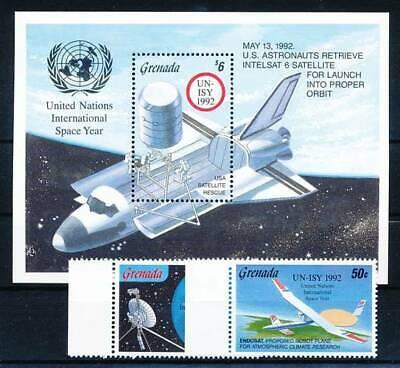 Briefmarken Grenada Nr.2504-5+bl.322** Raumfahrt Mild And Mellow Raumfahrt Süß GehäRtet 194507