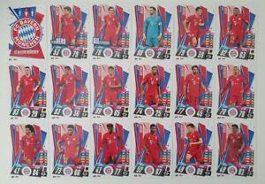 2020/21 Match Attax UEFA Champions League - Bayern Munich team set (18 cards)