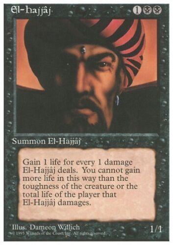 MTG 4x el-hajjaj-Revised Rare *