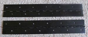 "En Herbe A Pair 2 Aluminum Anodized Black Piano Hinge 1""x 1""x 12"" 20 Gauge Rv Boat"