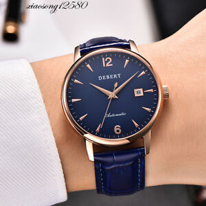 79b4a84c0 Image is loading Debert-40mm-Automatic-MIYOTA-Date-Sapphire-Glass-Stainless-