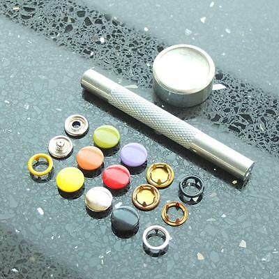 """Open Ring Snap Fasteners stud 3/8"""" 9.5mm tool No Sew attaching 20 50 100"""