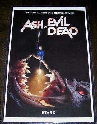 Ash vs The Evil Dead Bruce Campbell LOT horror high quality 11 x 17 posters 3