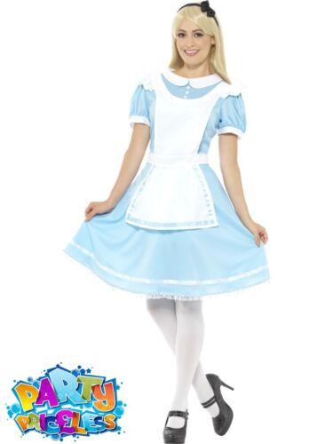 Ladies Alice In Wonderland Costume Book Film Week Womens Fancy Dress Outfit Day