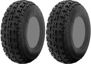 Pair 2 ITP Holeshot 21x7-10 ATV Tire Set 21x7x10 21-7-10