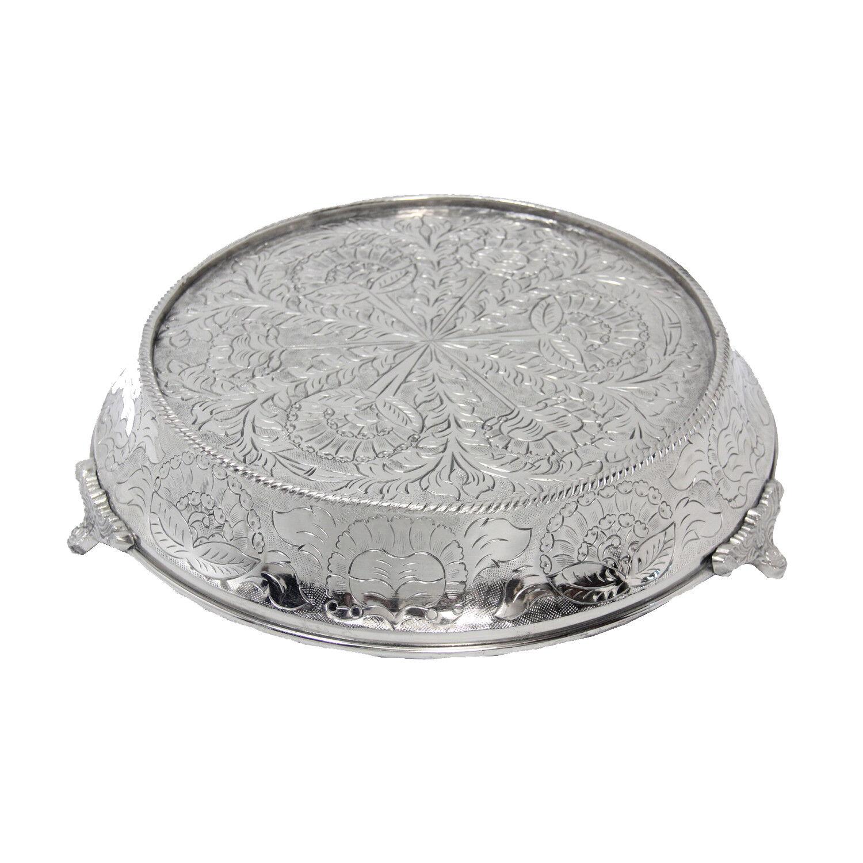 Giftbay wedding cake stand conique ronde 18 , argent, robuste pour multicouche Gateau