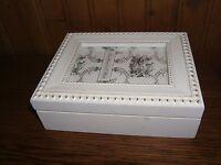 White Decorative Shabby Chic Framed Memory Box (new)