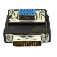 Adapter VGA Female to DVI 24 5 Male Right Angle 90 Degree Converter Hot