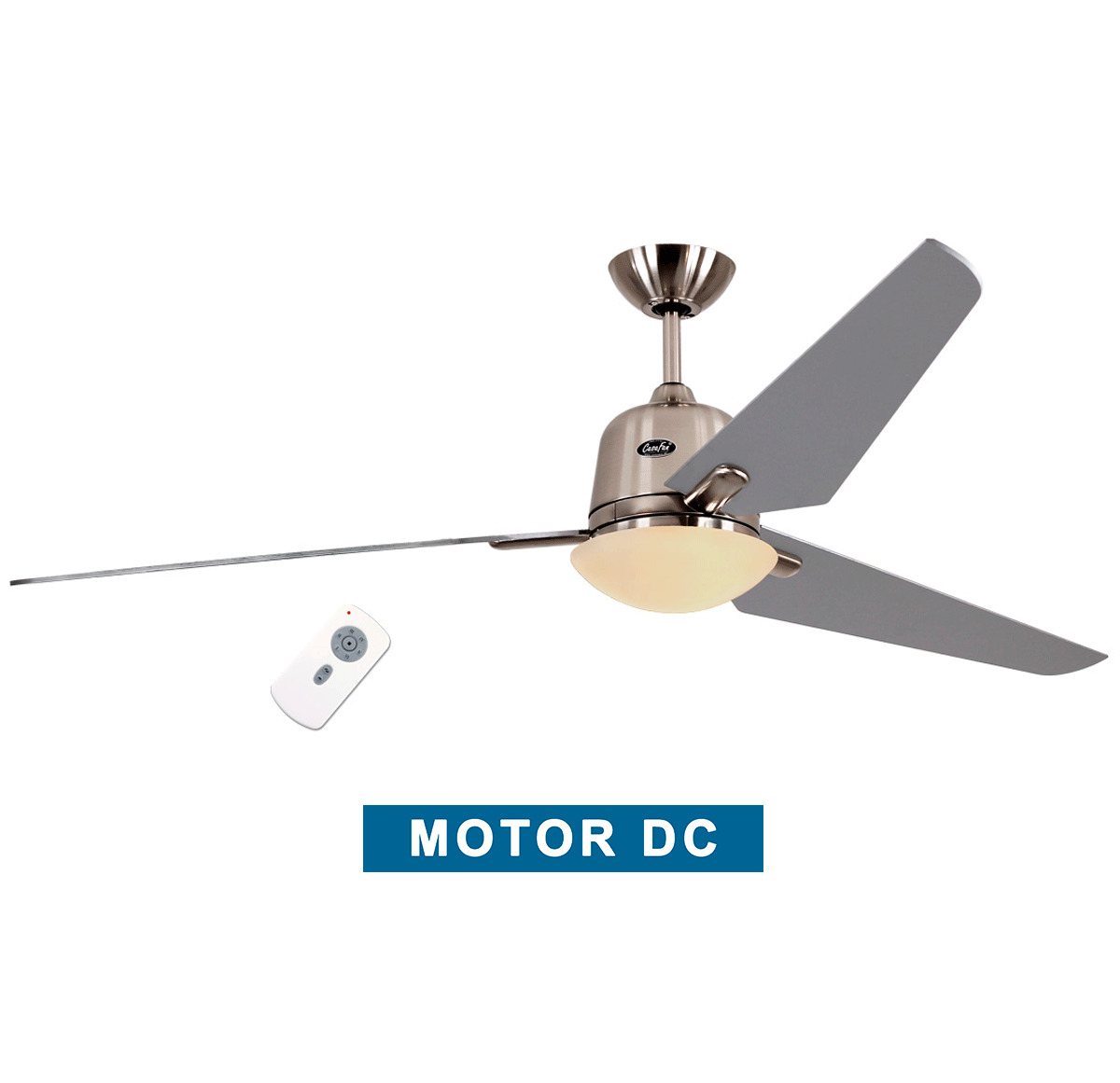 Ceiling fan with light CasaFan 516085 ECO AVIATOS 162 silver / chrome...