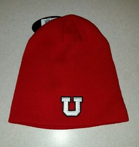 fd8306ddce1 NWT Top of the World Adult UTAH UTES Knit Hat WINTER Ski Cap RED ...