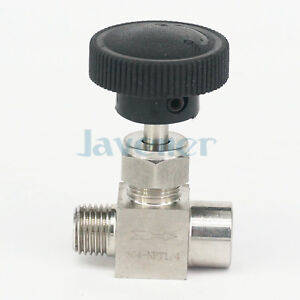 1-4-034-NPT-Female-to-Male-Needle-Valve-304-Stainless-Steel-Flow-Control