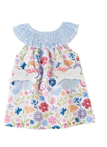 Mud Pie E0 Kids Baby Toddler Girl Smocked Easter Dress Choose Size 15000054