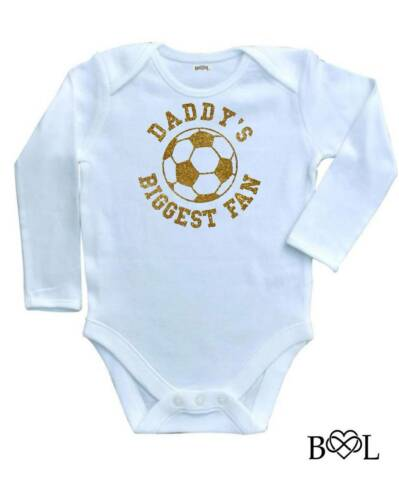 New Baby Boy/'s Babygrow Vest Daddy/'s Biggest Fan Football Gift Dad daughter son