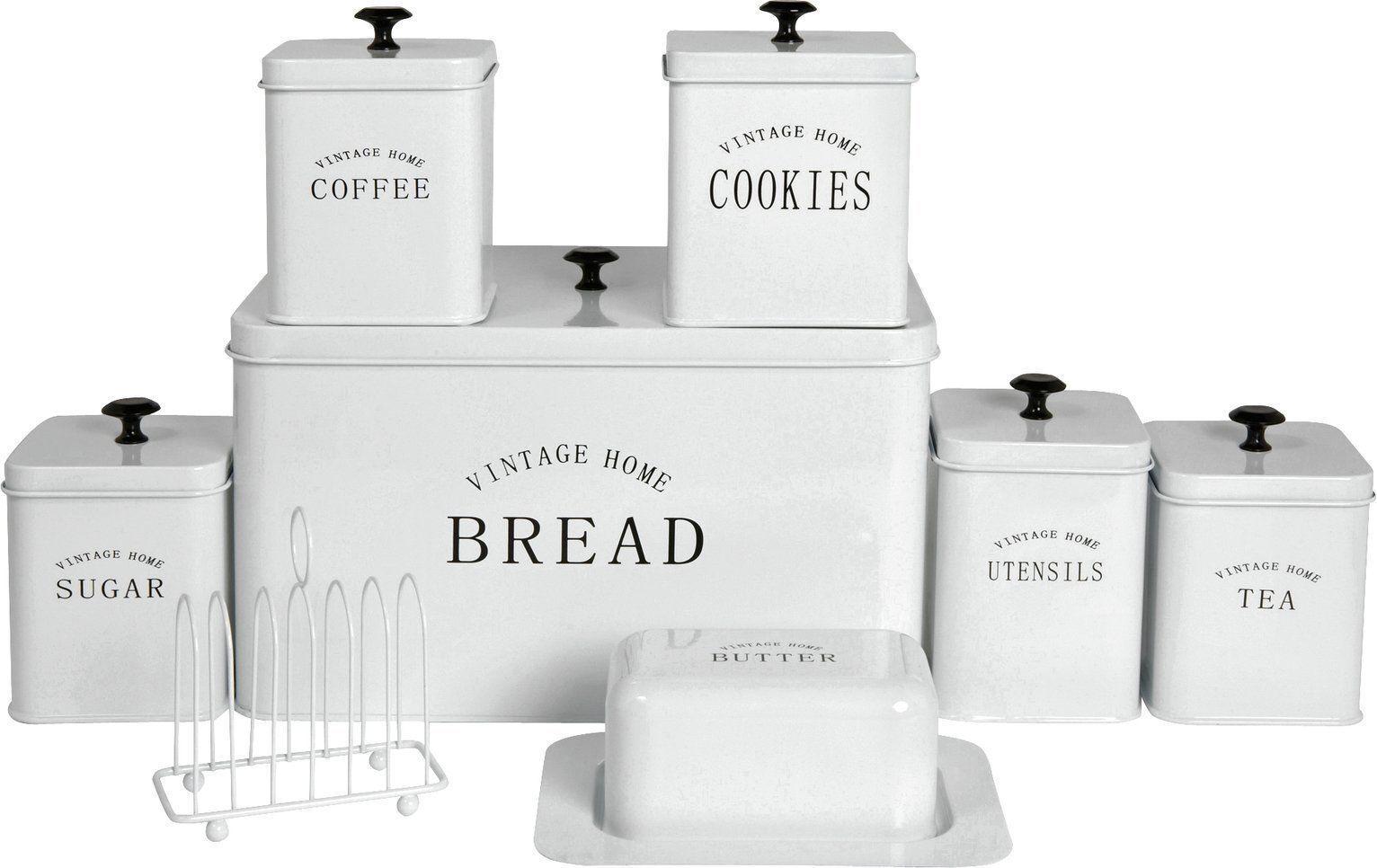 8Pc Bread Cookies Utensils Tea Sugar Coffee Coffee Coffee Butter Storage Jar Canister Tin Set 38de97