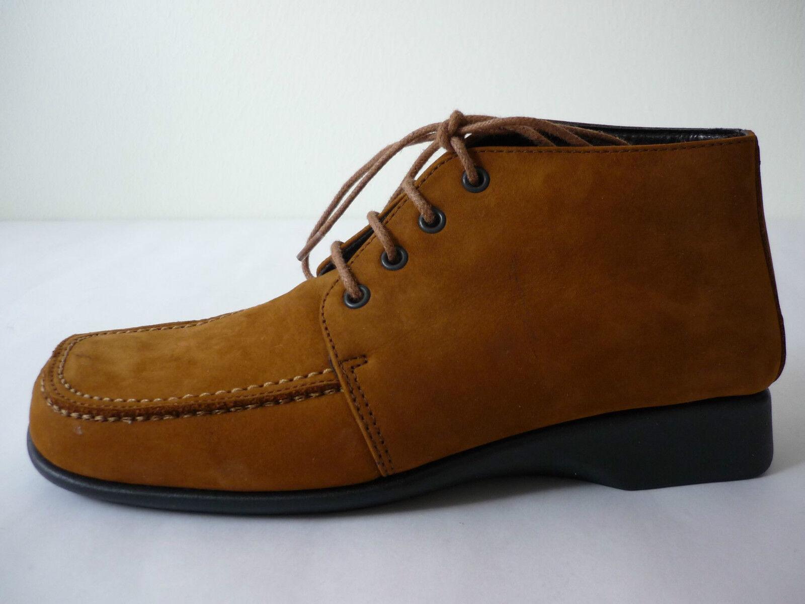 AEROSOLES Chaussures Femmes Bottines 35,5 36,5 Cheville Chaussures nubuk marron NOUVEAU