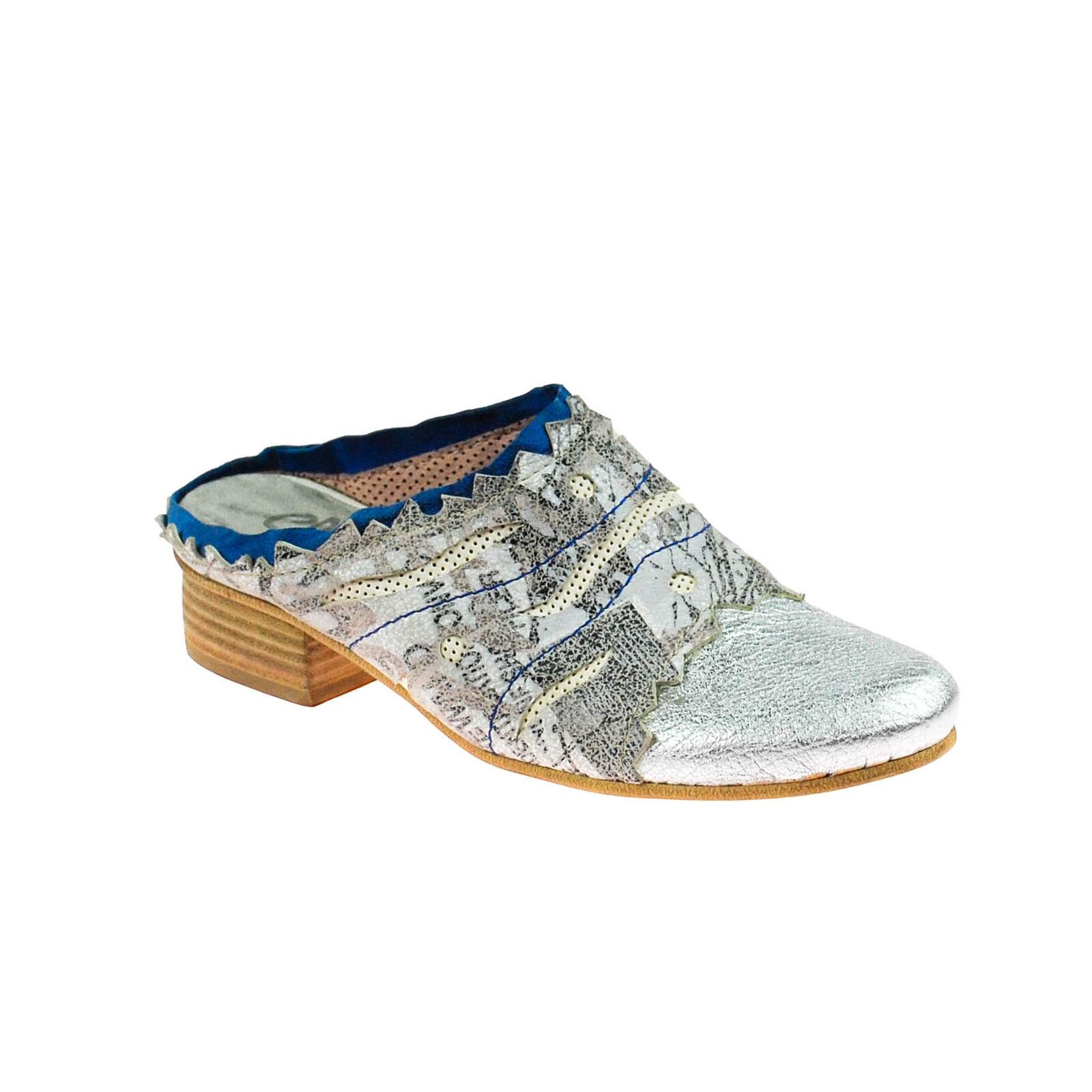 liquidazione Fascino Donna Scarpe Basse Aperte Sandali in Pelle Grigio argentoo argentoo argentoo Blu Bianco Multicolore  contatore genuino