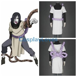 Details About Cos Naruto Orochimaru Anime Cosplay Costume Halloween Costume  Clothes