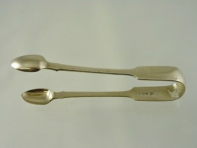 FIDDLE BACK OR TIPPED SUGAR TONGS BY JOHN GILBERT BIRMINGHAM