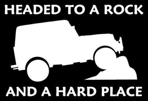 Rock Hard Vinyl Decal 4wd 4x4 Funny Sticker SUV Mud 4 x