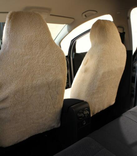 Fiat 500L MPW-Lujo Piel de piel sintética de oveja cubiertas de asiento de Coche-Delantero Par
