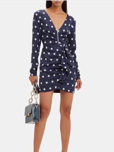 SELF-PORTRAIT Star Printed Long Sleeve Dress $405
