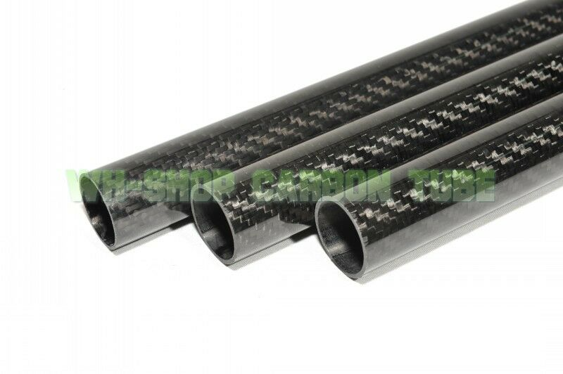 2 un. 46 Mm x 44 Mm x 1000 mm (1 M) 3k tubo de fibra de carbono 4644 Rodillo De Carbono Tubo Tubería