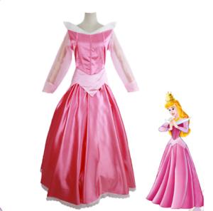 Women Teen Sleeping Beauty Princess Aurora Halloween Cosplay Costume Dress ZG9