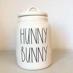 New-Rae-Dunn-Baby-HUNNY-BUNNY-Canister-2019-Easter-Spring-Release