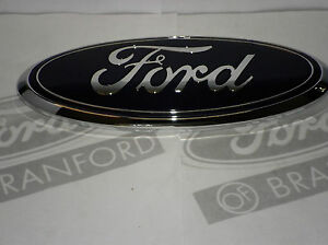 New Oem Ford 9 Quot Tailgate Oval Blue W Chrome Name Plate