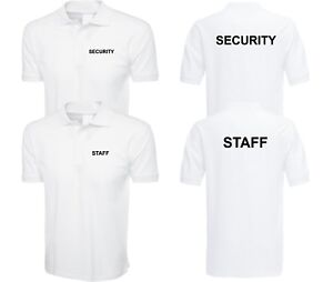 SECURITY Polo Shirt Door Man STAFF Bodyguard Mens Workwear ...