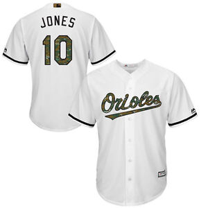 new arrivals 85a77 1e2b1 Details about Adam Jones Baltimore Orioles Majestic USMC Memorial Day Cool  Base Jersey-White