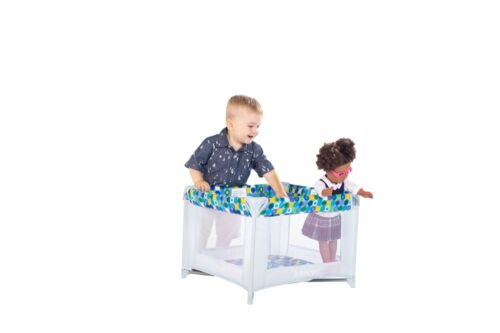 Joovy Doll Toy Room Mini Playard Blue Kids Pretend Role Play Doll Accessory