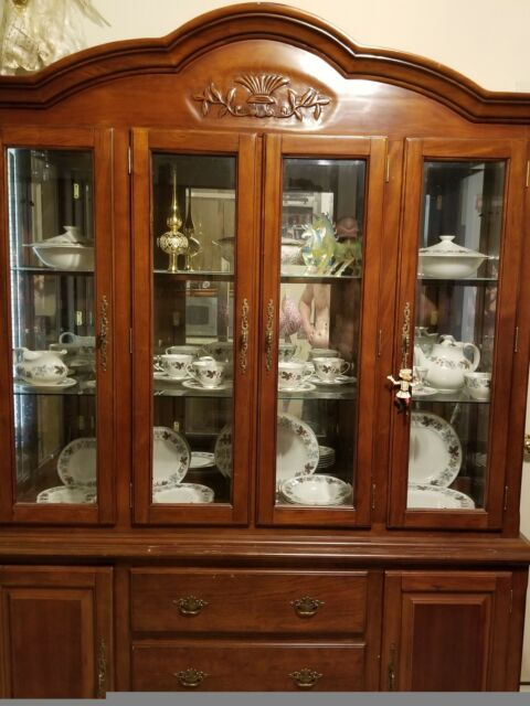 Oak China Cabinet Hutch For Online